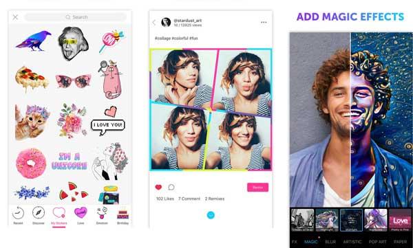 Nejlepší aplikace pro úpravy fotografií pro iPhone - PicsArt