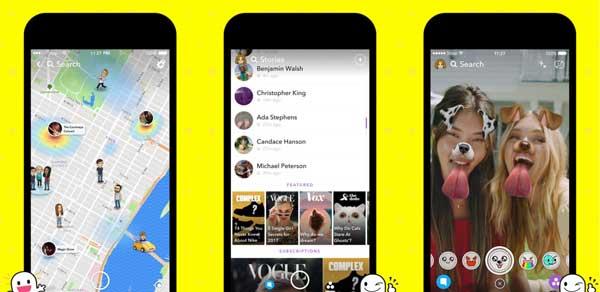 Nejlepší aplikace pro úpravy fotografií pro iPhone - Snapchat
