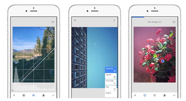 Nejlepší aplikace pro úpravy fotografií pro iPhone - Snapseed