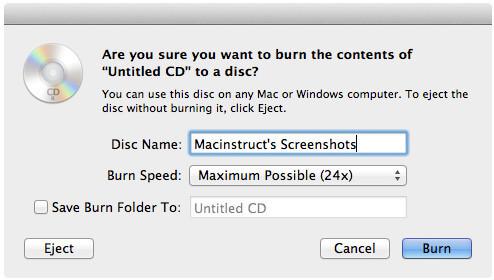 Masterizza CD su Mac