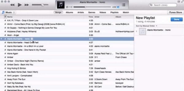 Crea playlist su iTunes