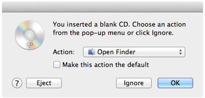 Inserisci CD su Mac