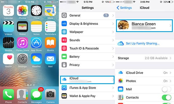how do i change the icloud account on my iphone icloud change reset icloud account 9373