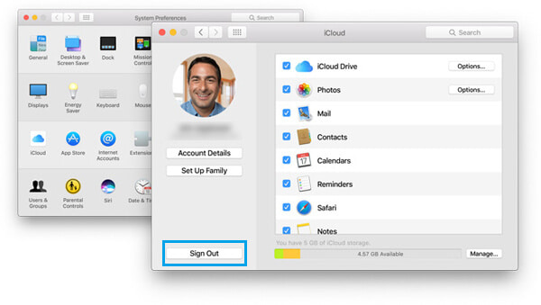 Cambia account iCloud su Mac iCloud