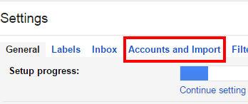 Account e importazioni