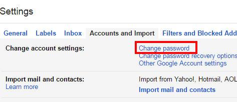 Come posso cambiare la mia password Gmail