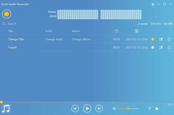 Ανοίξτε τη συσκευή εγγραφής ήχου Cinch