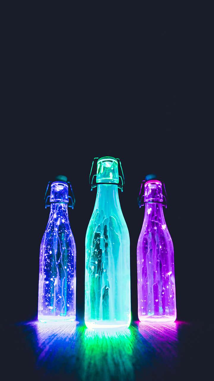 Kolorowa butelka