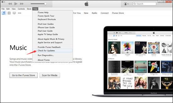 Controlla l'aggiornamento di iTunes