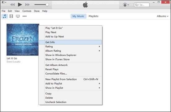 Importa file audio