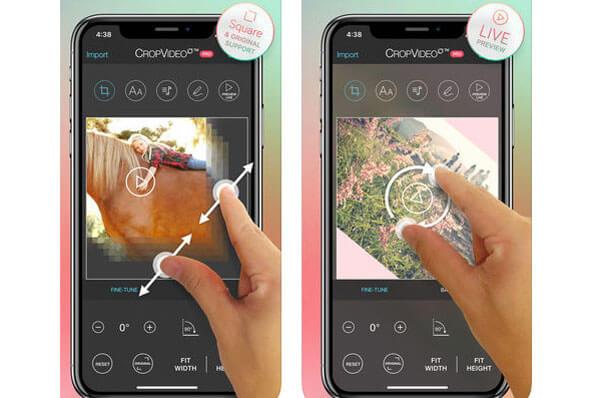 Ritaglia video su iPhone