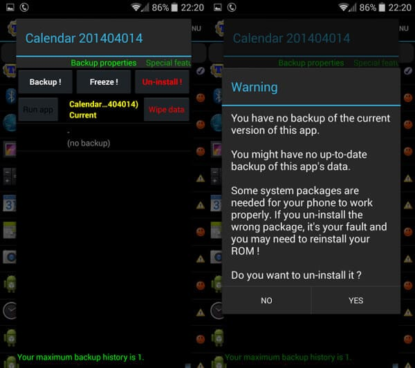 how to permanently delete apps android