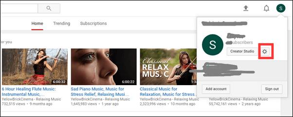 Συνδεθείτε στις Ρυθμίσεις YouTube
