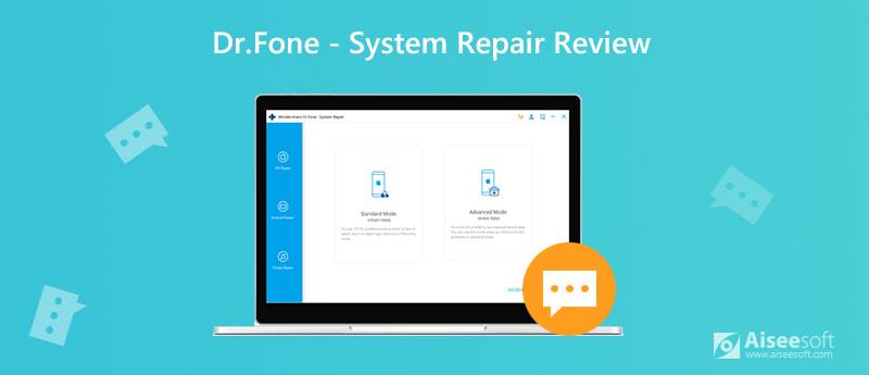 Recensione di riparazione del sistema Dr.Fone