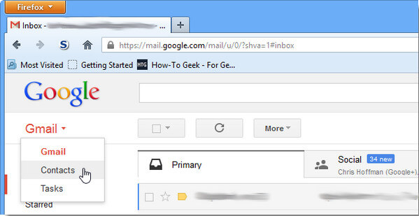 Click Gmail Contacts