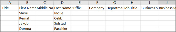 Export Outlook Contacts to Excel