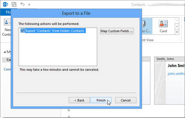 Make Suer to Export Outlook 2013 Contacts