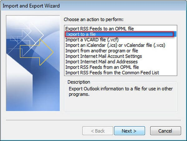 Save Exported Outlook Contacts As