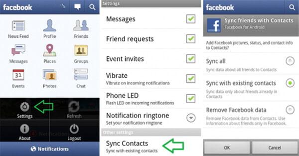 Sincronizza i contatti di Facebook su Android Phone