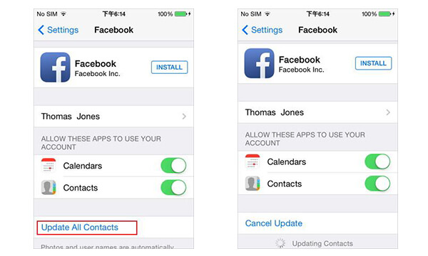 how to sync facebook contacts to iphone how to sync contacts to phone 20341