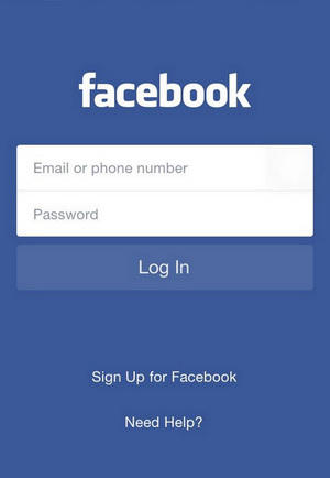 Log in Facebook App on Android Phone or iPhone