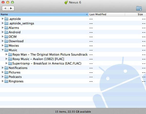 Trasferimento file Android per Mac
