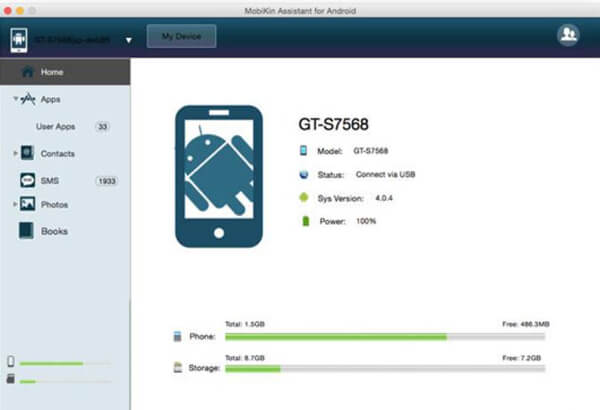 Mobikin Android Device Manager per Mac