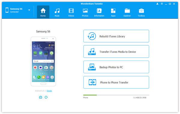 TunesGo Android Desktop Manager
