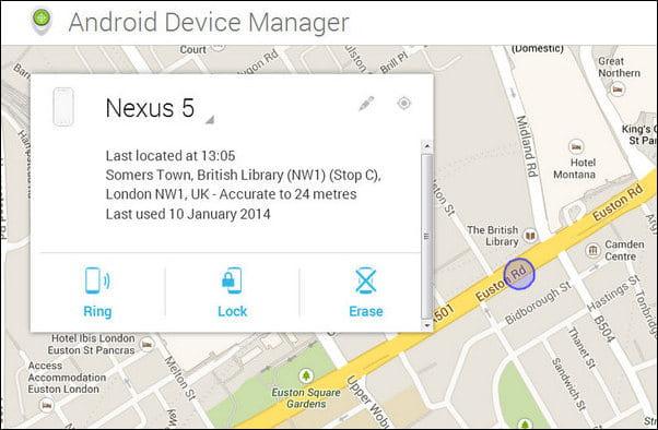 Funzionalità chiave di Gestione dispositivi Android