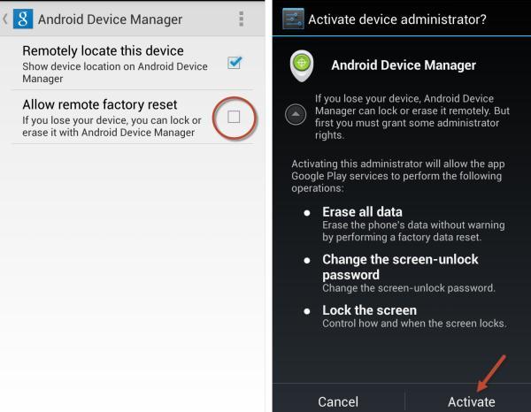 Abilita Gestione dispositivi Android