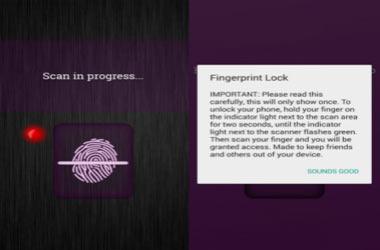 Schermata di blocco delle impronte digitali reale