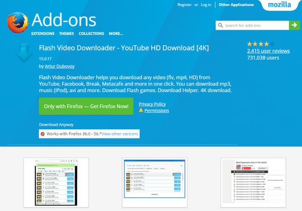 FLV Video Downloader per Firefox