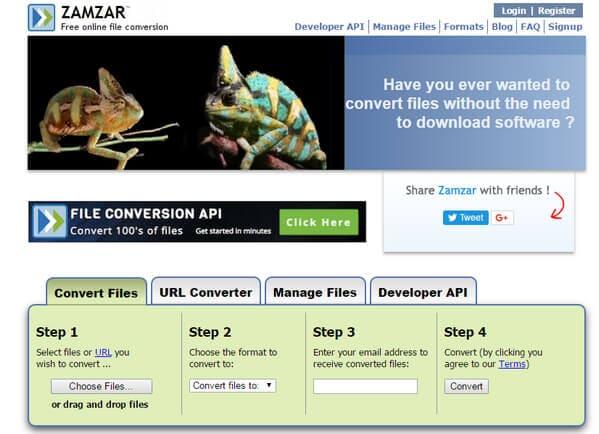 Zamzar Online FLV-omzetter
