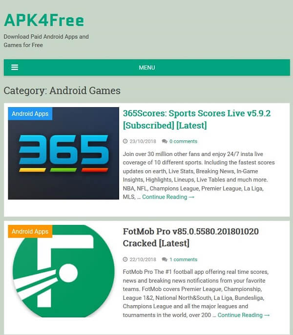 Top 20 Android Game APKs Free Downloading in Full Version