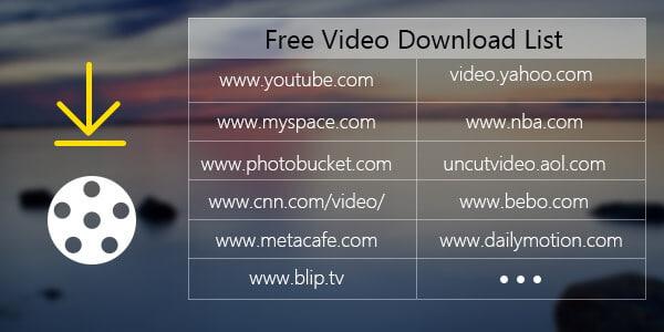 Scarica gratis l'elenco dei video