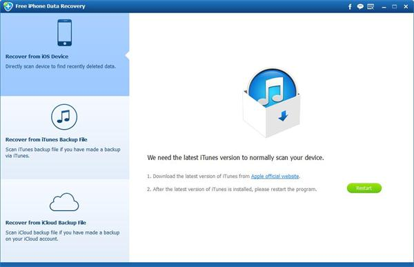 Recupero dati gratuito per iPhone