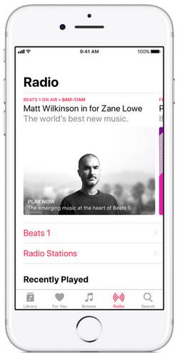 Χρησιμοποιήστε την εφαρμογή iTunes Radia στο iPhone