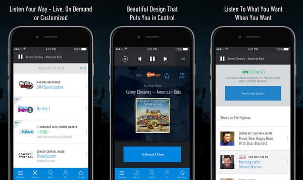 Εφαρμογή ραδιοφώνου SiriusXM