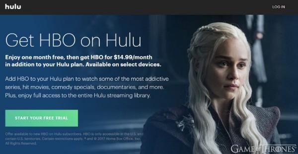 Strona internetowa Hulu