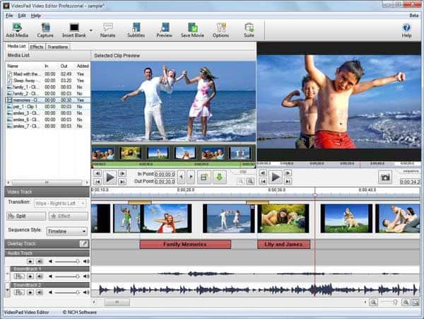 Επεξεργαστής βίντεο VideoPad