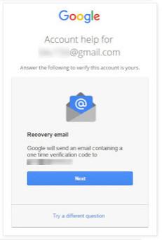 Invia codice per e-mail