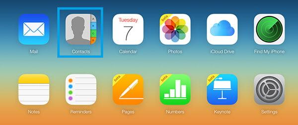 Επαφές στο iCloud