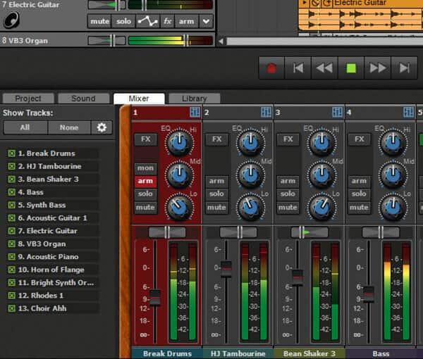 Rejestrator dźwięku HD Mixcraft8