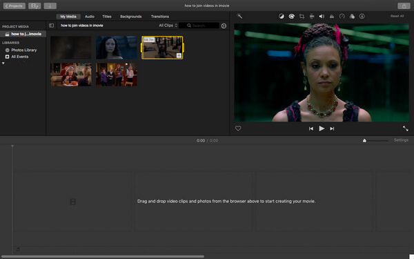 How to Join/Merge Video Clips Together in iMovie