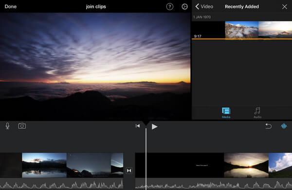 Carica video clip in iMovie