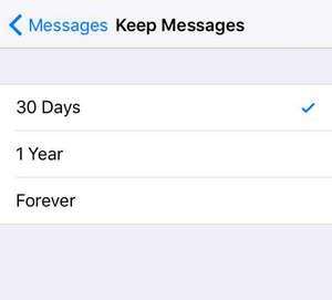 Elimina il vecchio messaggio di testo