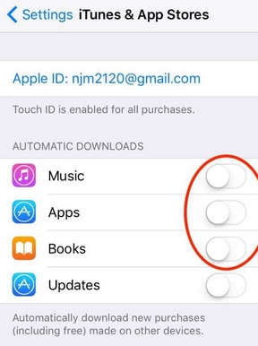 How to turn off auto software update on iphone 6 13