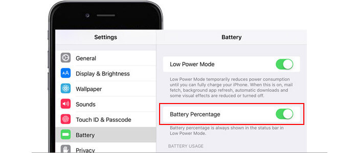 turn on battery percentage iphone how to get battery percentage on ipod touch 6 18116