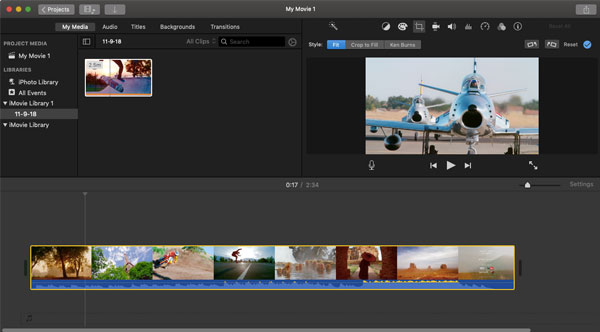 Importa video in iMovie