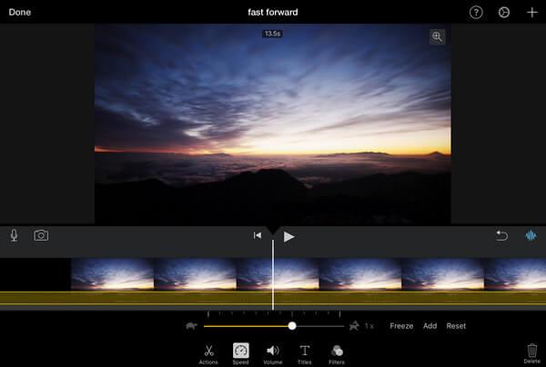 Avanzamento veloce in iMovie iPhone iPad